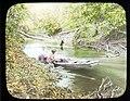 Cana Creek, Seth Meek (maybe) and other man in canoe on river. 1912. (3607563743).jpg