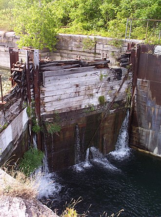 Soulanges Canal - A derelict lock