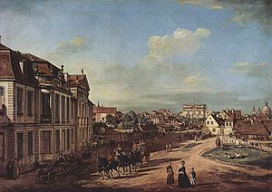 Holy Trinity Church, Warsaw - Image: Canaletto (I) 033