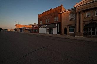 Cando, North Dakota - Business district in Cando