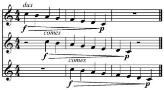 Canon (music) - Image: Canon example
