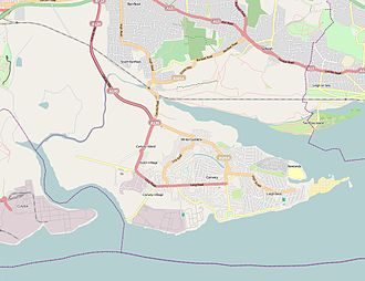 Canvey Island - Image: Canvey Island OSM map 2010
