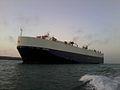 Car carrier VERONA naviguant en mer de Casablanca.jpg