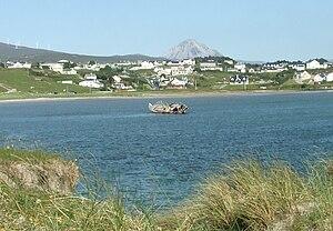Bunbeg - An Bun Beag at high tide. June 2009.