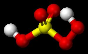 Peroxymonosulfuric acid - Image: Caro's acid 3D balls
