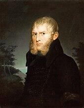 Caroline Bardua: Caspar David Friedrich mit Trauerbinde, 1810 (Quelle: Wikimedia)