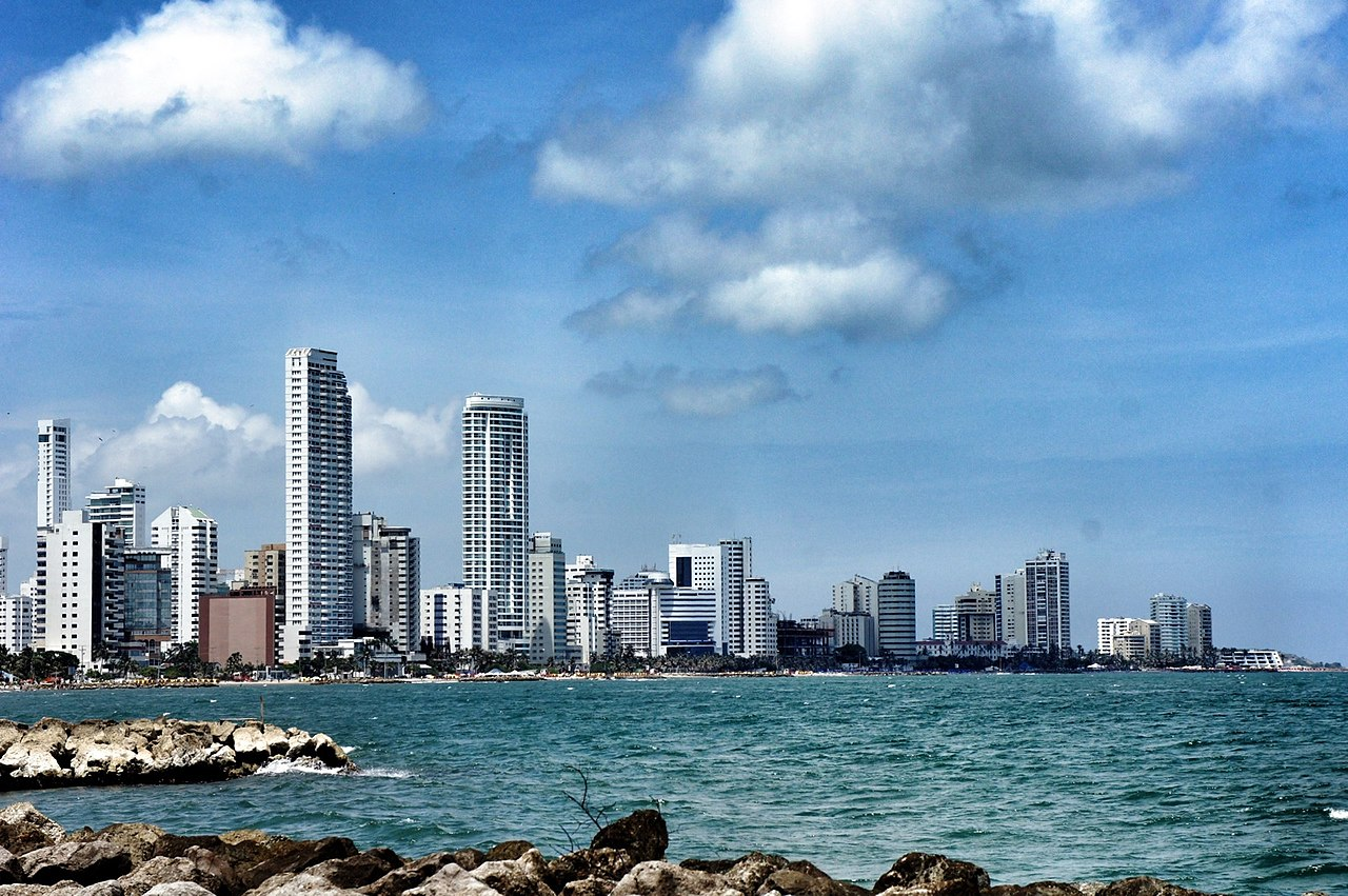 File Cartagena Skyline Colombia Jpg Wikimedia Commons