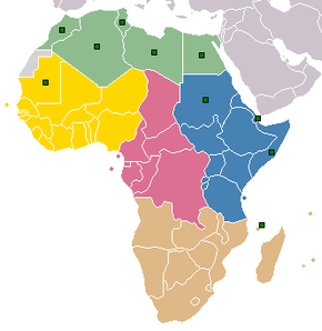 Map Of Africa With Countries And Capitals.List Of Regions Of Africa Wikipedia