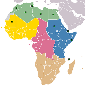 Confederation of African Football - Image: Carte Afrique CAF