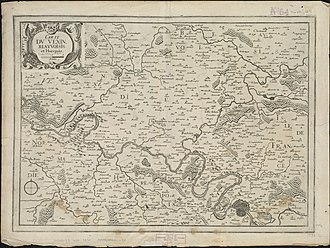 Vexin - Map of Vexin, Beauvoisis, and Hurepoix by Christophe Nicolas Tassin, 1634.
