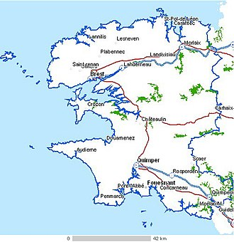 Finistère - Map of Finistère