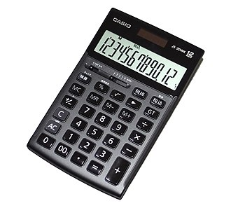 Calculator - An electronic pocket calculator with a liquid-crystal display (LCD) seven-segment display that can perform arithmetic operations