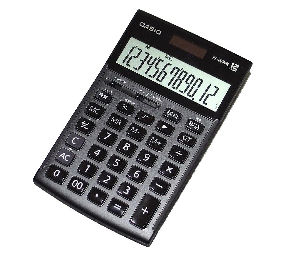Casio calculator JS-20WK in 201901 002