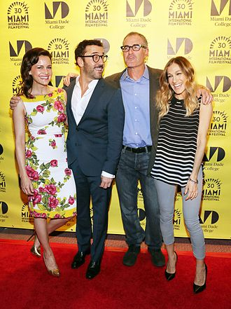 Miami Rhapsody - Carla Gugino, Jeremy Piven, David Frankel, and Sarah Jessica Parker at a screening of the film at the 30th Anniversary Celebration of the Miami International Film Festival in 2013