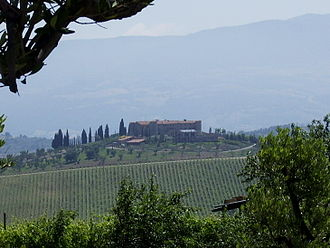 Tourism region - Scenic landscape of Tuscany, Italy
