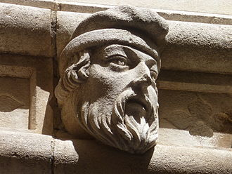Protome - Carved head on the Cathedral of St. Jacob in Šibenik, Croatia; carved in the 15th century by Juraj Dalmatinac