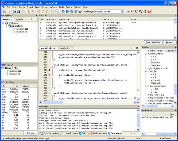 code blocks 8.02 mingw
