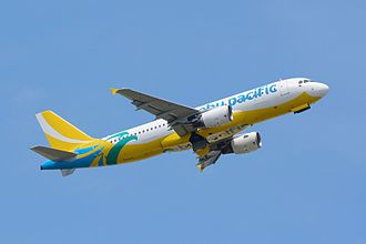 Value Alliance - A Cebu Pacific Airbus A320-214 with new livery.