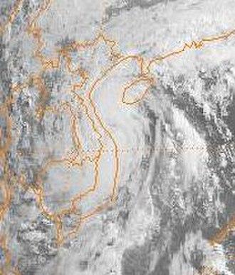 1989 Pacific typhoon season - Image: Cecil 1989052500GMS3VS