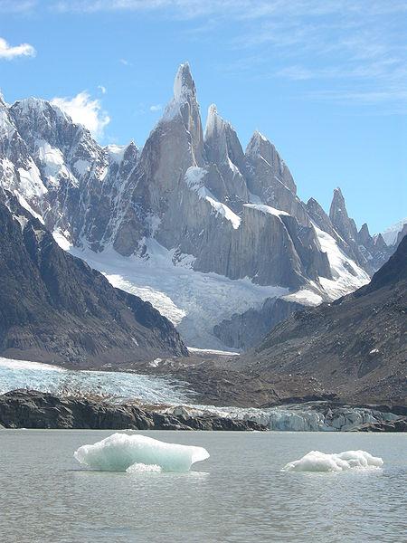 File:Cerro Torre (east face) and Laguna Torre.JPG