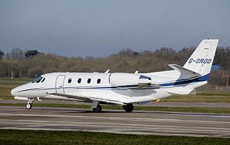 2014 Santos Cessna Citation accident - Image: Cessna model 560XL citation XLS manchester arp