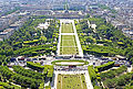 Champ-de-Mars from the second level of the Eiffel Tower, Paris 22 June 2014.jpg