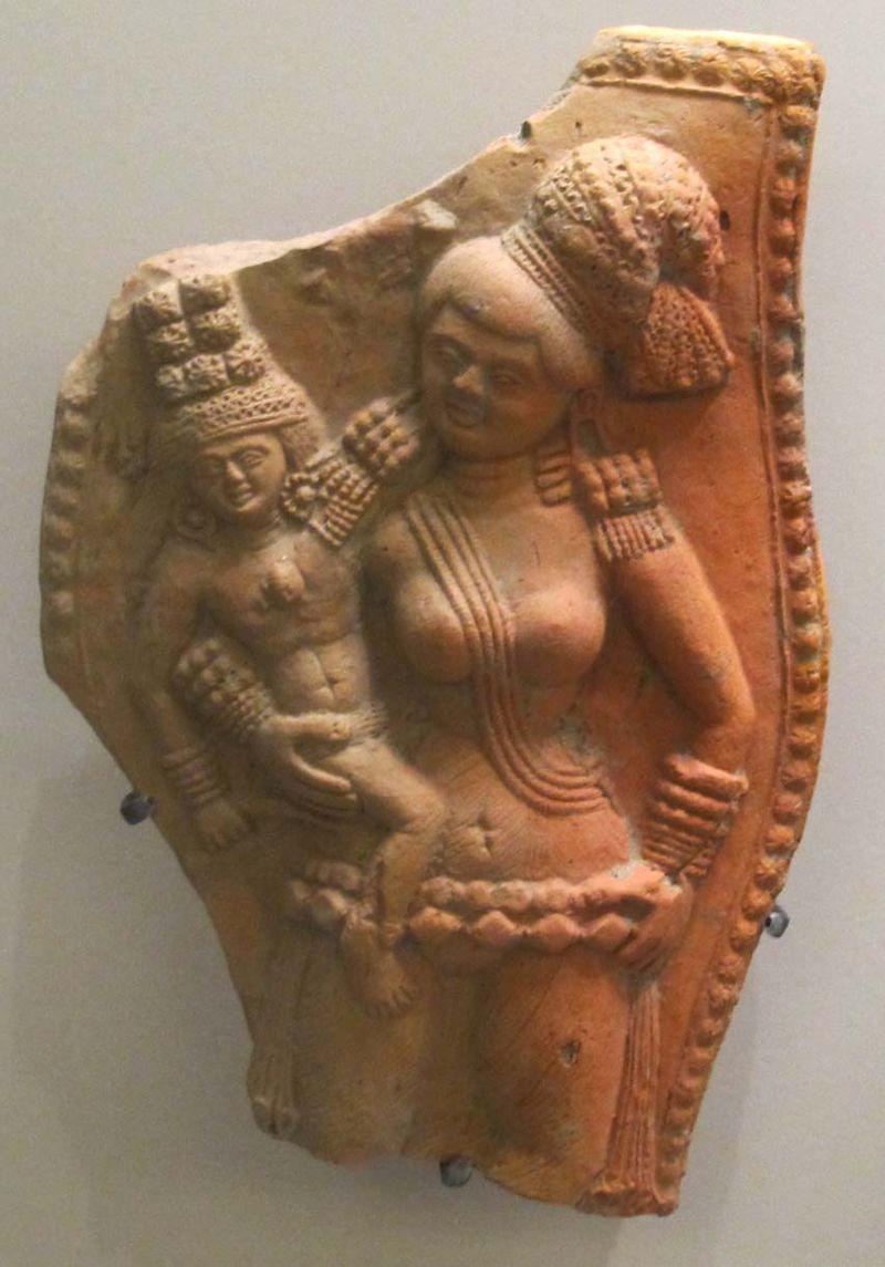 Chandraketugarth, epoca sunga, dea della fecondità, II-I sec. ac. 01.JPG
