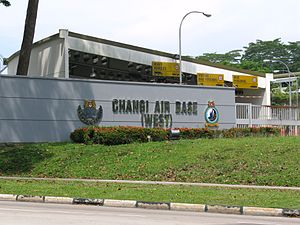 Changi Air Base - Entrance of Changi Air Base (West)/HQ Changi Air Base.