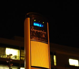 ChargePoint - Image: Charge Point terminal night Hillsboro, Oregon