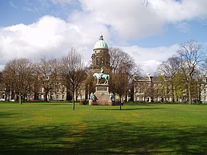 Charlotte Square - A statue of Prince Albert stands in the centre of Charlotte Square, in front of West Register House