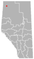 Chateh, Alberta Location.png