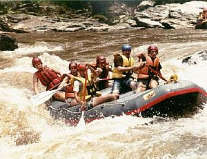 Whitewater rafting on the Chattooga River.