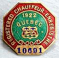 Chauffeur enregistré 1922 Québec.jpg