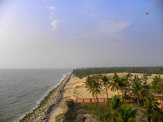 Chavara (Assembly constituency) - Image: Chavara coast as seen from Kovilthottam Lighthouse, Nov 2016