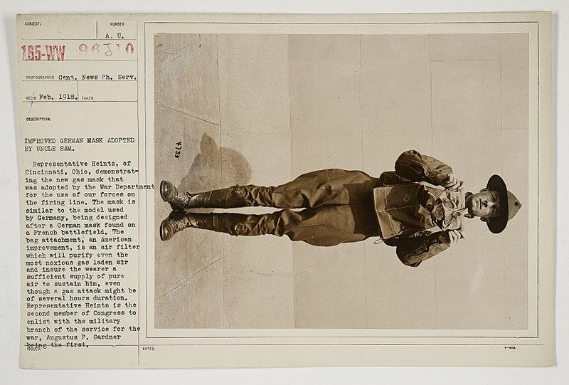 File:Chemical Warfare Service - Drills - Masks - Improved German mask adopted by Uncle Sam - NARA - 26424030.jpg