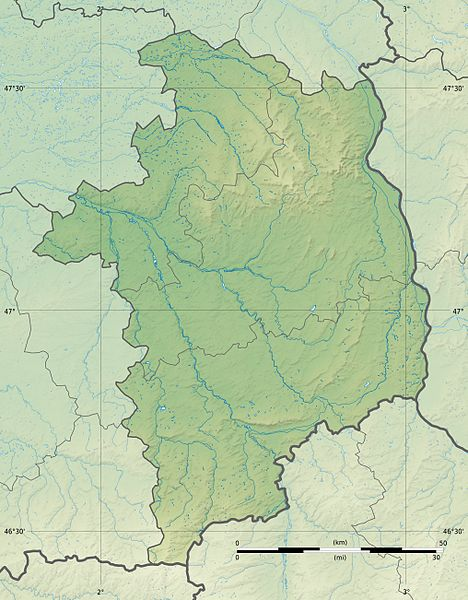 Fichier:Cher department relief location map.jpg