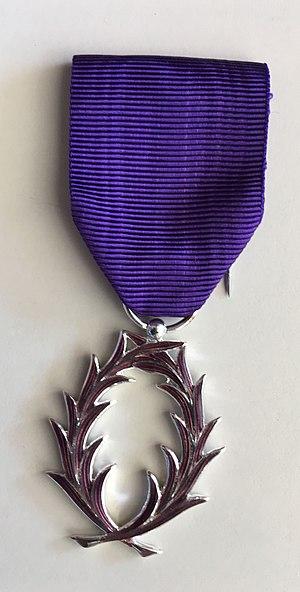 Ordre des Palmes Académiques - Image: Chevalier palmes academiques