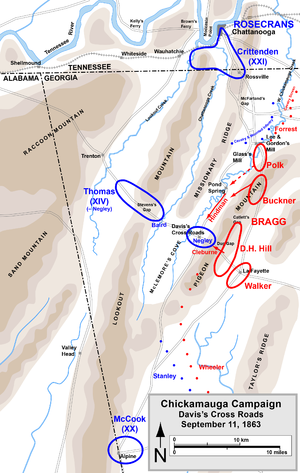 Battle of Davis's Cross Roads - Image: Chickamauga Campaign Davis's Cross Roads
