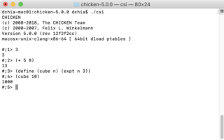Chicken (Scheme implementation)