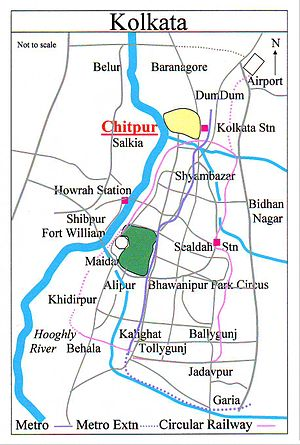 Kolkata railway station - Location of Chitpur Railway Station