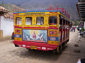Customised buses - Mural on a Chiva bus