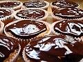 Chocolate ganache layer of samoa cupcake.jpg