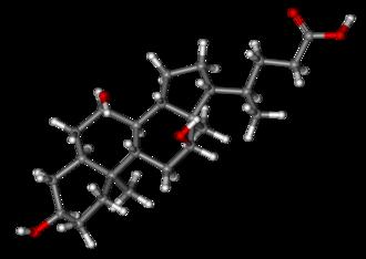 Cholic acid - Image: Cholic acid ball and stick