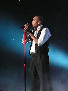 Brown performing at the Brisbane Entertainment Centre