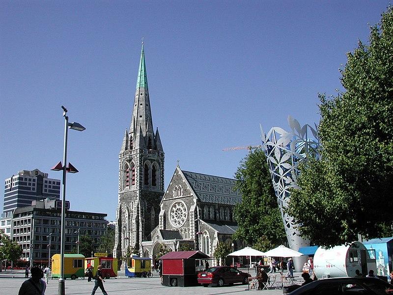 Nowa Zelandia Strzelanina Wikipedia: Fil:Christchurch Cathedral And Cathedral Square.jpg