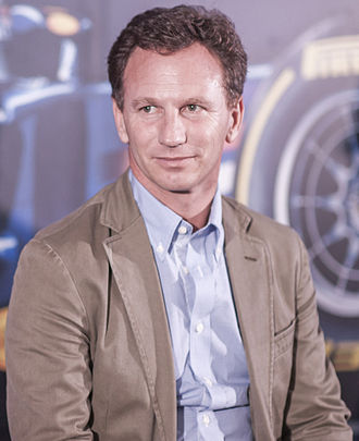 Christian Horner - Horner on-stage at the British Embassy in Tokyo, Japan