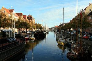 Christianshavn - Christianshavns Kanal separating Christianshavn in a City Side and a Rampart Side part