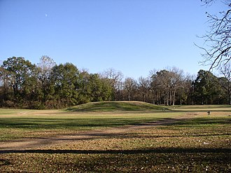 Natchez revolt - Mound at the site of the Grand Village in the city of Natchez in 2008