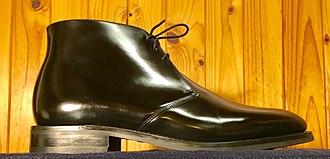 Chukka boot - Image: Chukka boot, black leather