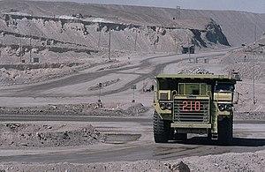 Euclid Trucks -  Euclid truck in use at Chuquicamata copper mine in 1984